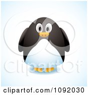 Clipart 3d Chubby Penguin Royalty Free Vector Illustration by michaeltravers