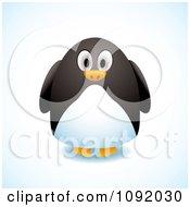 Clipart 3d Chubby Penguin Royalty Free Vector Illustration