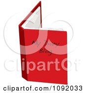 Clipart Red Diary Blog Book Open Royalty Free Vector Illustration