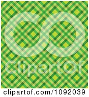 Clipart Green And Yellow Tartan Pattern Background Royalty Free Vector Illustration