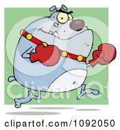 Clipart Gray Bulldog Boxer Royalty Free Vector Illustration