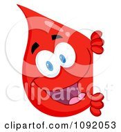 Clipart Blood Guy Smiling Around A Blank Sign Royalty Free Vector Illustration