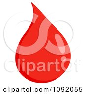Clipart Blood Drop Royalty Free Vector Illustration by Hit Toon