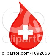 Clipart First Aid Blood Drop Royalty Free Vector Illustration