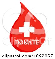 Clipart Donate First Aid Blood Drop Royalty Free Vector Illustration
