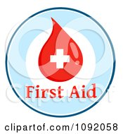Clipart First Aid Blood Drop Circle Royalty Free Vector Illustration