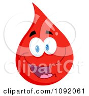 Clipart Friendly Blood Guy Royalty Free Vector Illustration