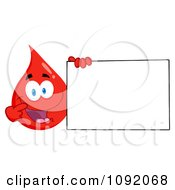 Clipart Blood Guy Presenting A Blank Sign Royalty Free Vector Illustration