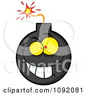 Clipart Evil Bomb Character Royalty Free Vector Illustration by Hit Toon
