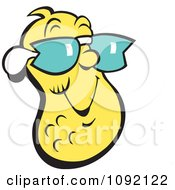 Clipart Cool Yellow Peanut Wearing Shades Royalty Free Vector Illustration by Johnny Sajem
