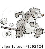 Clipart Possum Running Upright Royalty Free Vector Illustration