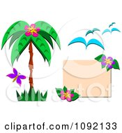 Clipart Tropical Design Elements Royalty Free Vector Illustration by bpearth