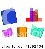 Clipart Colorful Library Books Royalty Free Vector Illustration by bpearth