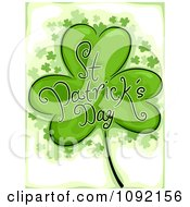 Clipart St Patricks Day Greeting Shamrock Royalty Free Vector Illustration