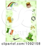 St Patricks Day Border Of Holiday Items With Copyspace