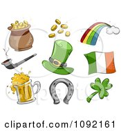 Clipart St Patricks Day Icons Royalty Free Vector Illustration