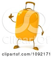Clipart 3d Yellow Suitcase With An Idea Royalty Free CGI Illustration