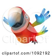 Clipart 3d Macaw Parrot Flying Royalty Free CGI Illustration