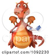 Clipart 3d Dental Dragon With A Tooth Brush 2 Royalty Free CGI Illustration