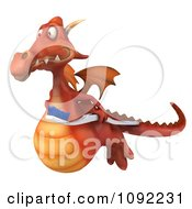 Clipart 3d Dental Dragon Flying With A Tooth Brush 1 Royalty Free CGI Illustration