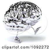 Clipart 3d Brain Character Walking 2 Royalty Free CGI Illustration by Julos