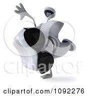 Clipart 3d Tooth Character Cartwheeling In Sunglasses Royalty Free CGI Illustration
