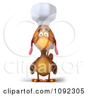 3d Chef Chicken Facing Front