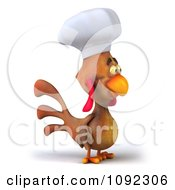 3d Chef Chicken Facing Right