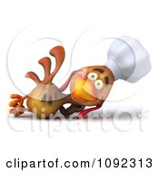 3d Chef Chicken Reclining