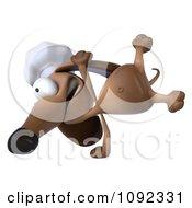 3d Chef Dachshund Dog Cartwheeling