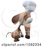 3d Depressed Chef Dachshund Dog 2