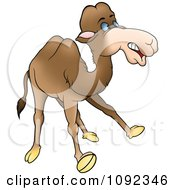 Clipart Surprised Camel Royalty Free Vector Illustration