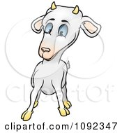 Clipart Surprised Goat Royalty Free Vector Illustration