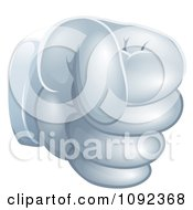 Clipart 3d Gloved Fist Royalty Free Vector Illustration