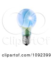 Clipart 3d Lightbulb With A Sunny Landscape Royalty Free CGI Illustration