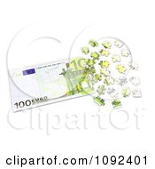 Clipart 3d 100 Euro Cash Puzzle Royalty Free CGI Illustration by Mopic