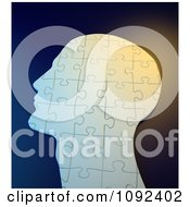 Clipart 3d Complete Human Puzzle Piece Profiled Head Royalty Free CGI Illustration by Mopic