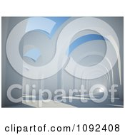 Clipart 3d Architectural Arches And Light At The End Of A Tunnel Royalty Free CGI Illustration