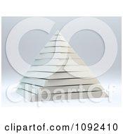 3d White Layered Pyramid