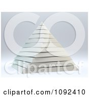 Clipart 3d White Layered Pyramid Royalty Free CGI Illustration