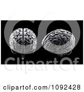 Clipart 3d Human Brains On Black Royalty Free CGI Illustration