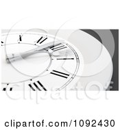 Clipart 3d Plate Wall Clock With A Fork And Knife Royalty Free CGI Illustration by Mopic