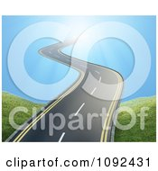 Clipart 3d Wavy Road Leading Into The Sky Royalty Free CGI Illustration by Mopic