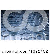 Clipart 3d Metal Hexagon Background Royalty Free CGI Illustration