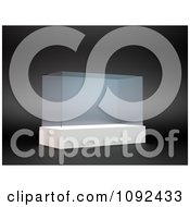 Clipart 3d Rectangular Glass Display Royalty Free CGI Illustration