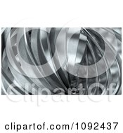 Clipart 3d Shiny Abstract Metal Twisting Royalty Free CGI Illustration