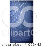 Clipart 3d Blue Metallic Waving Hexagon Background Royalty Free CGI Illustration