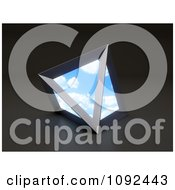 Clipart 3d Sky Portal Pyramid Royalty Free CGI Illustration by Mopic