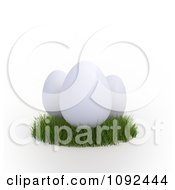 Clipart 3d White Eggs In Grass Royalty Free CGI Illustration by Mopic