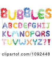 Clipart Colorful Bubble Capital Letter Design Elements Royalty Free Vector Illustration